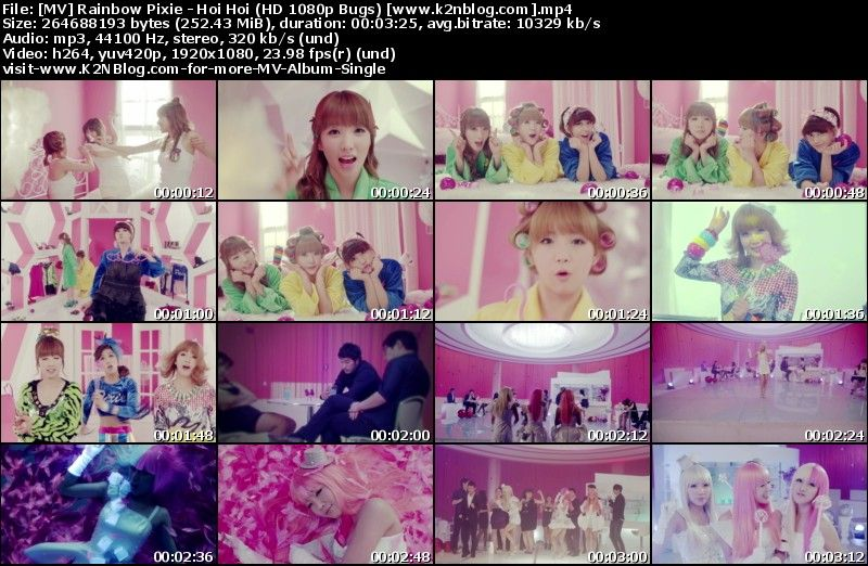 [MV] Rainbow Pixie   Hoi Hoi (HD 1080p Bugs)