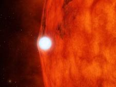 This artist&#39;s concept depicts a dense,<br /> dead star called a white dwarf crossing<br /> in front of a small, red star.<br /> Image credit: NASA/JPL-Caltech&nbsp;&nbsp;&nbsp;&nbsp;&nbsp;&nbsp;<br /> <a href='http://www.nasa.gov/mission_pages/kepler/multimedia/pia16885.html' class='bbc_url' title='External link' rel='nofollow external'>� Full image and caption</a>