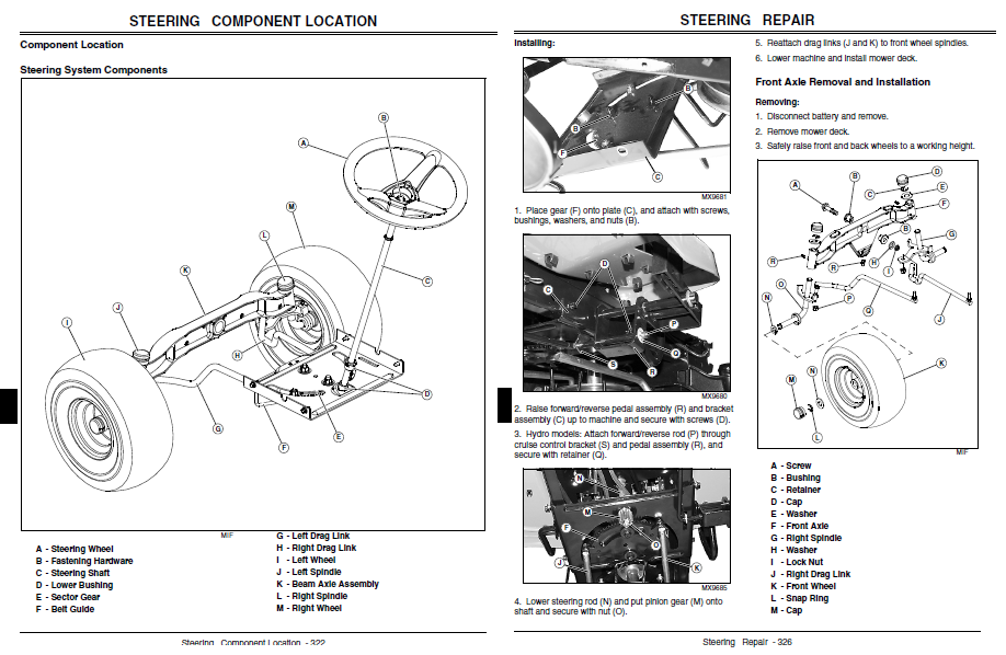 john deere l120 parts diagram