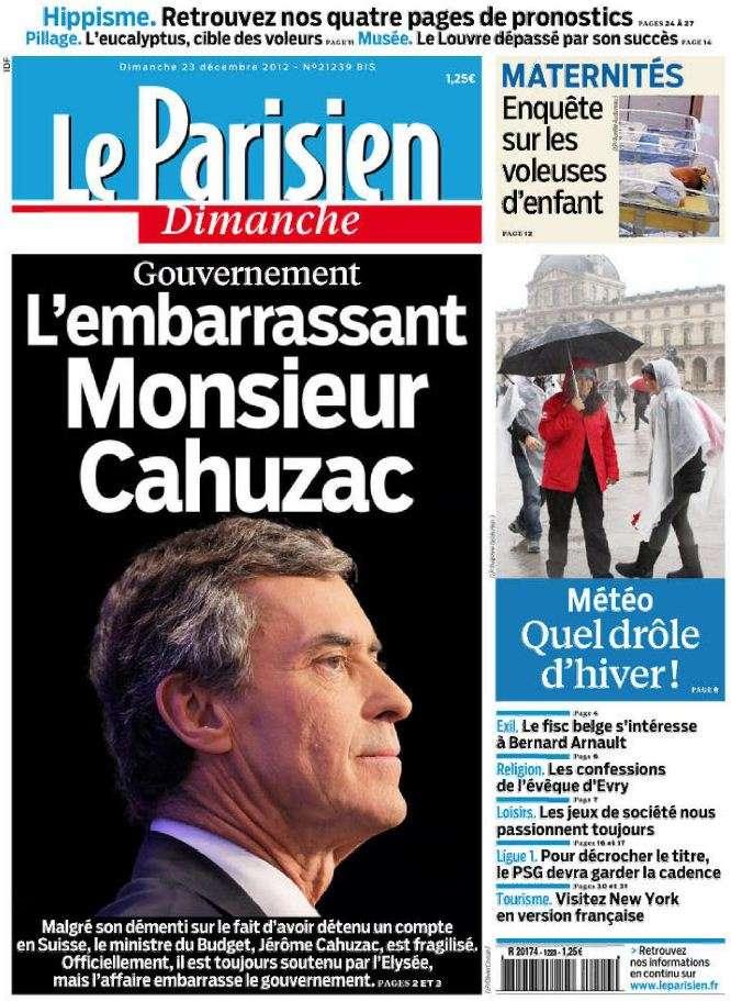Le Parisien du Dimanche 23 Décembre 2012