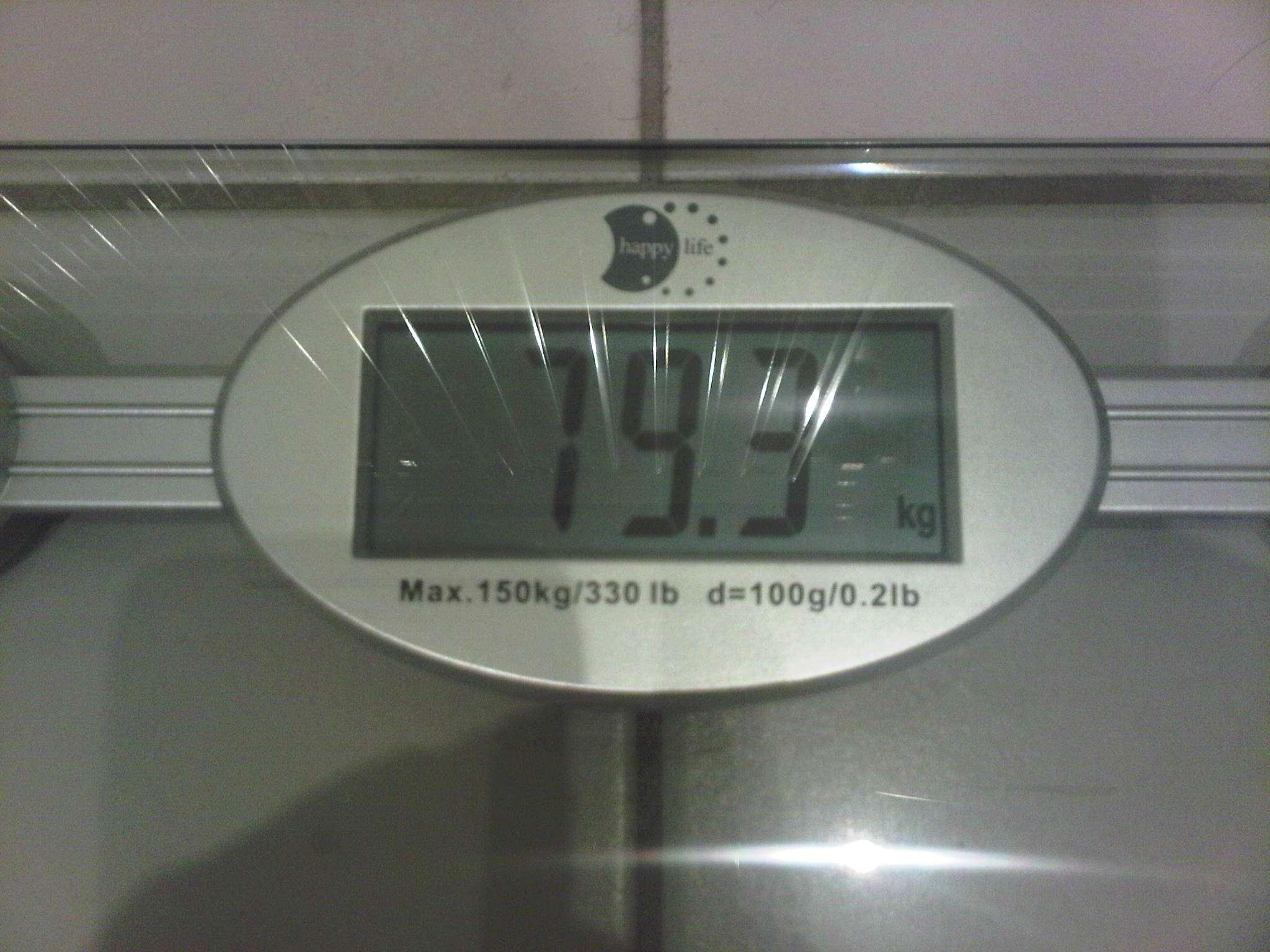 Manje od 80 kg nakon puno vremena, konkretno 79,3 kg