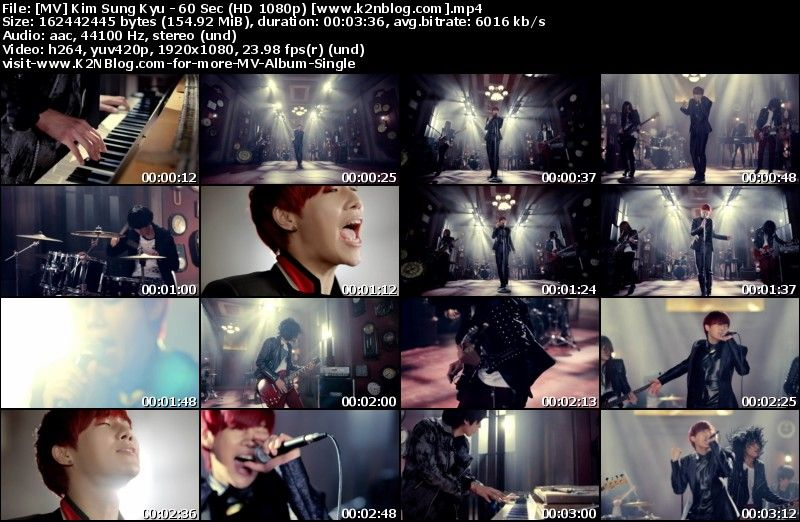 [MV] Kim Sung Kyu   60 Sec (Band Ver.) [HD 1080p Youtube]