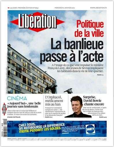 Libération Mercredi 9 janvier 2013