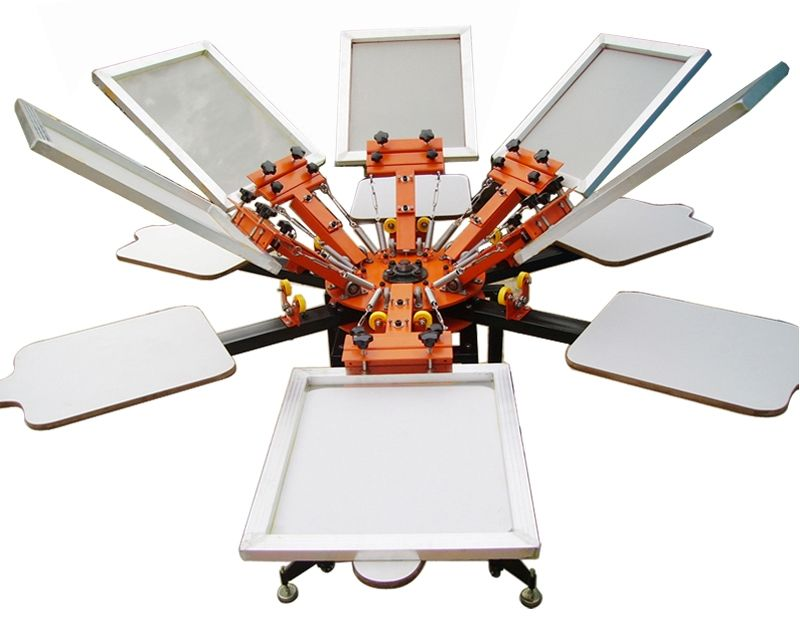 giostra serigrafica professionale 6 colori 6 piani stampa