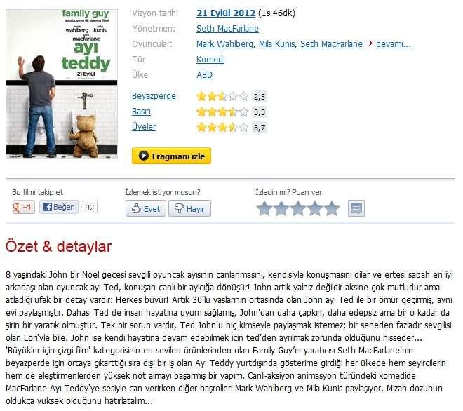 Ayı Teddy - 2012 BDRip XviD - Türkçe Dublaj Tek Link indir