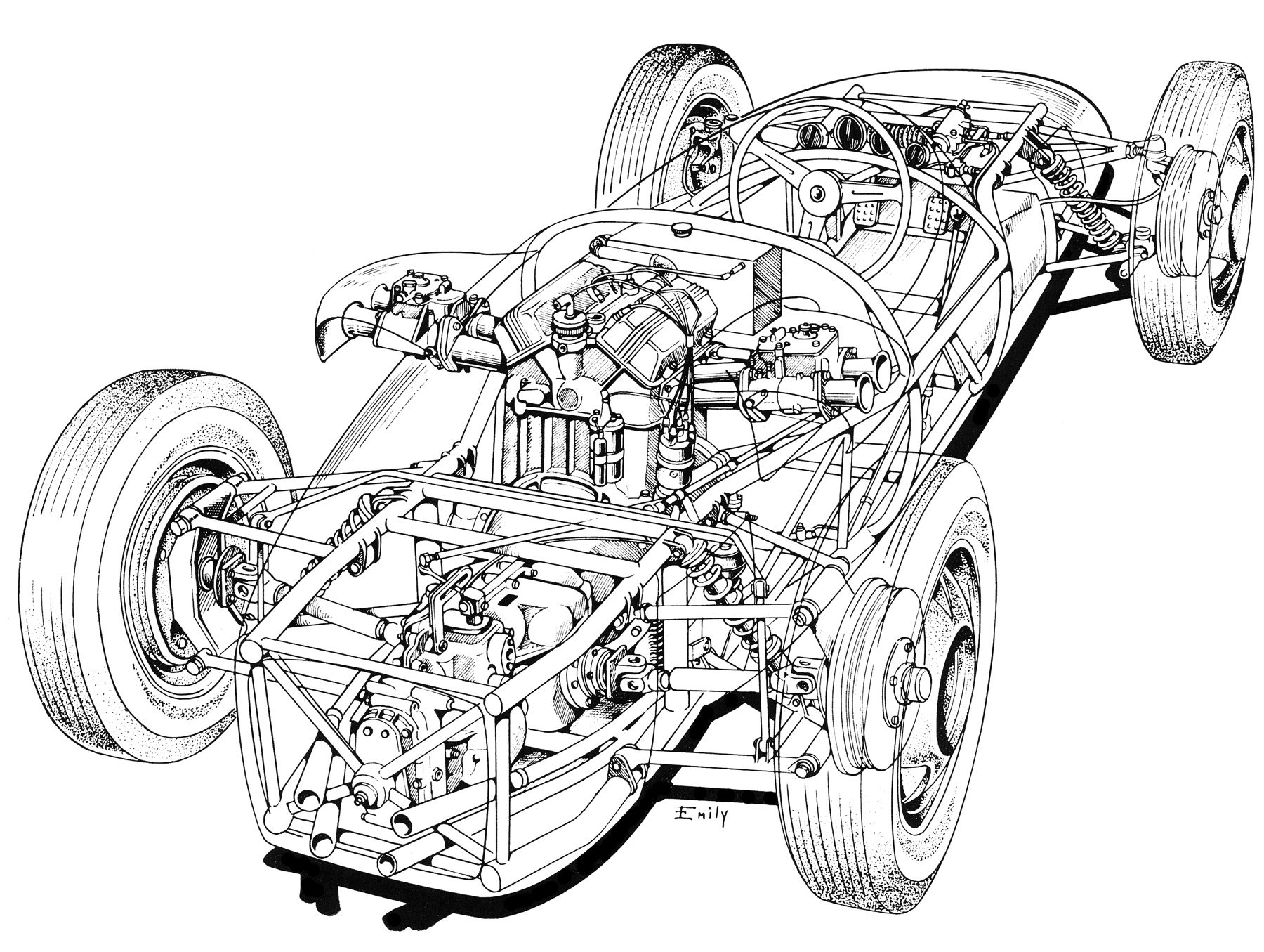the cutaway drawing and its artists page 72 the nostalgia forum 2003 Ford GT40 posted image
